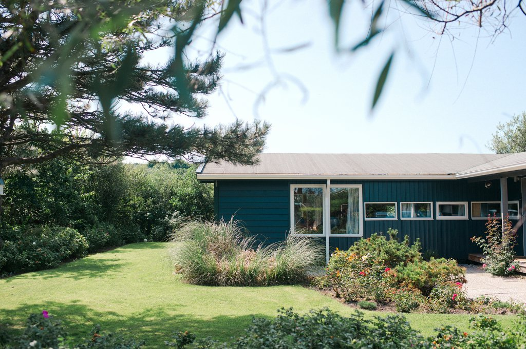 Photo Beachhouse in aqua mit Garten