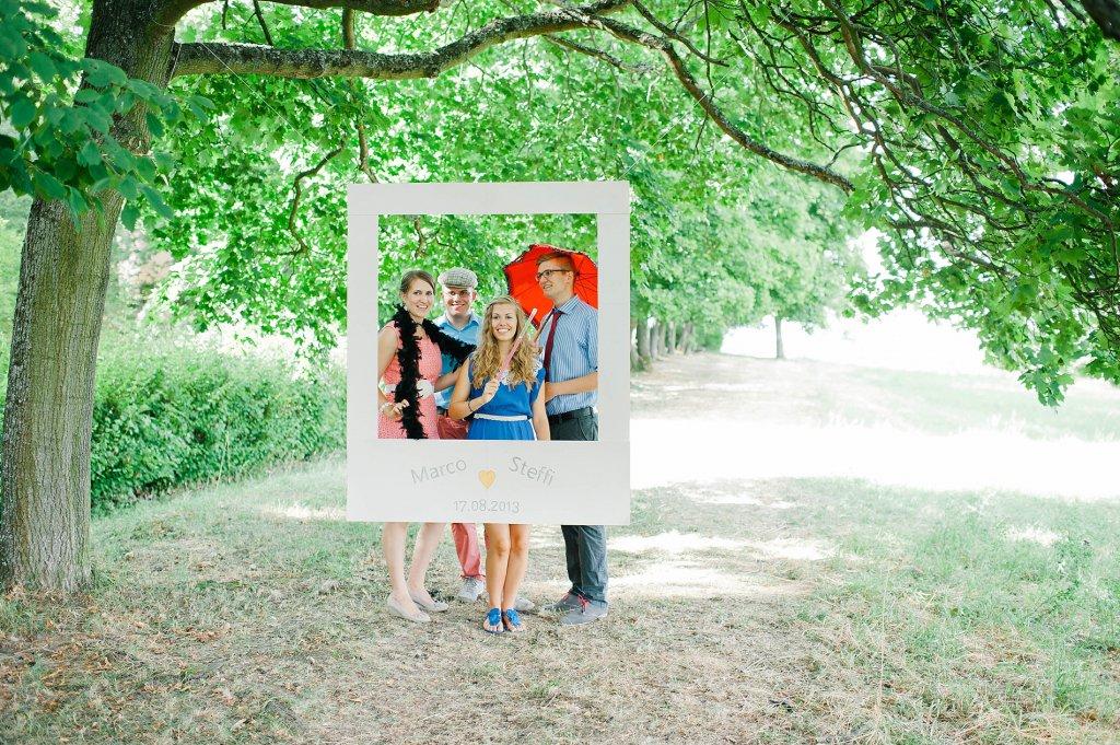 Photo Photo-booth im Freien als Bilderrahmen
