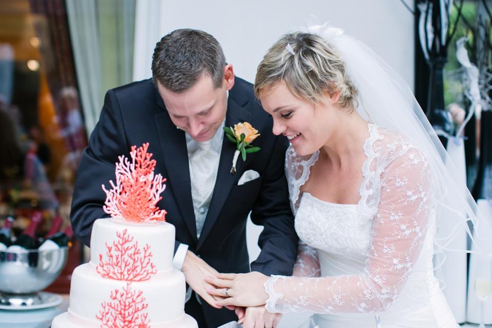 Photo Hochzeitstorte, Koralle